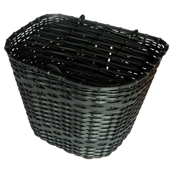 Kosár első fekete műanyag