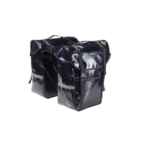 Táska vízálló pvc 30x17x38cm fekete Bonin