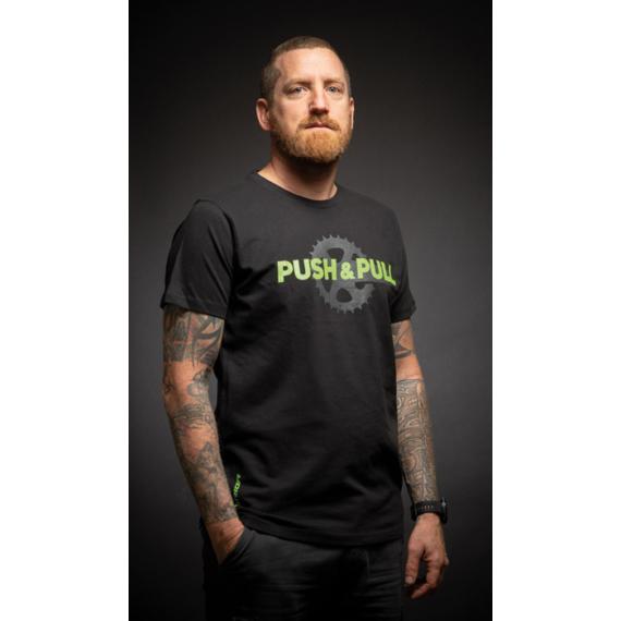 Polo MERIDA PUSH&PULL rövid FEKETE