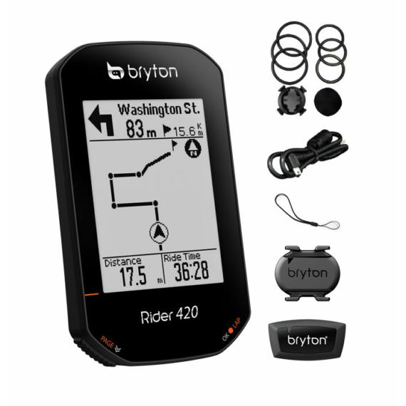 Computer BRYTON RIDER 420T GPS szett (CAD+HRM)