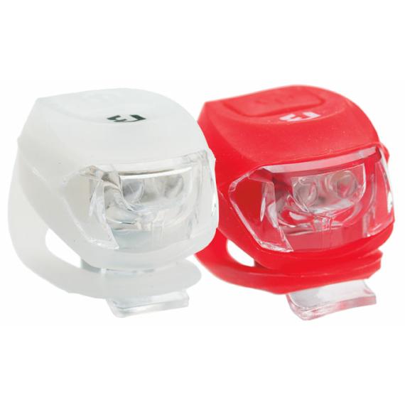 Lámpa BIKEFUN PIXIE szett E+H 2+2 LED fehér + piros (50/karton)