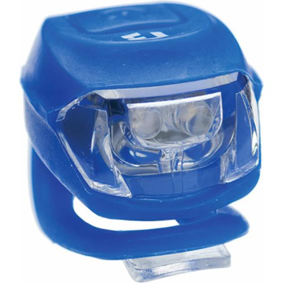 Lámpa BIKEFUN PIXIE első 2 fehér LED 2 funkció, szilikon, KÉK