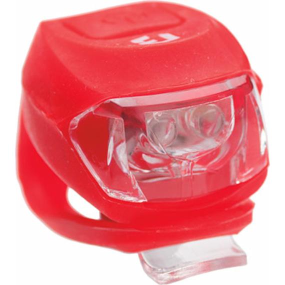 Lámpa BIKEFUN PIXIE 2 piros LED 2 funkció, szilikon, piros (100/ctn)