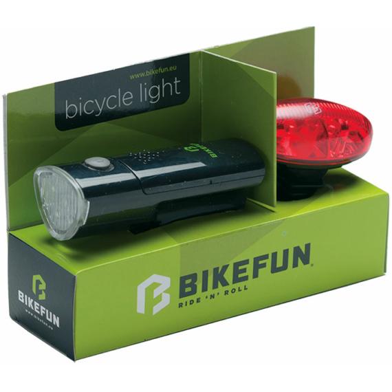 Lámpa BIKEFUN LINK szett E+H 5+4 LED - JY-369+JY-388R